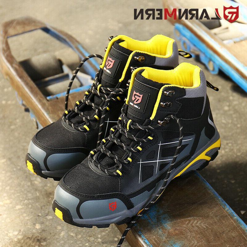 LARNMERN Steel-Toe Boots Outdoors Waterproof Shoes
