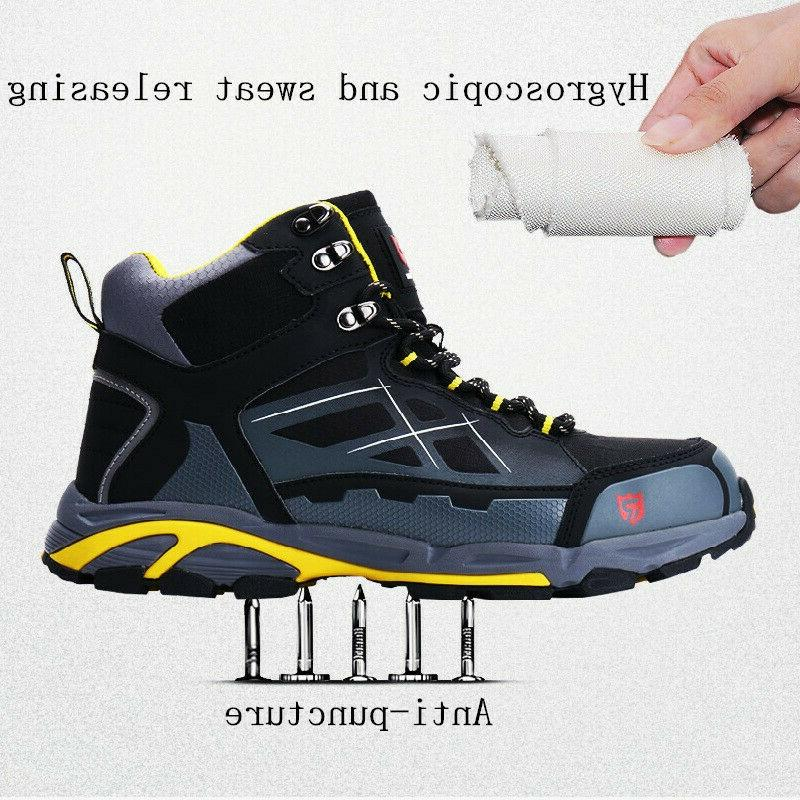 LARNMERN Men Steel-Toe Boots Hiking