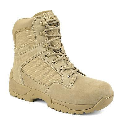 Men's Tactical Boots Side Ankle Motorcycle Combat
