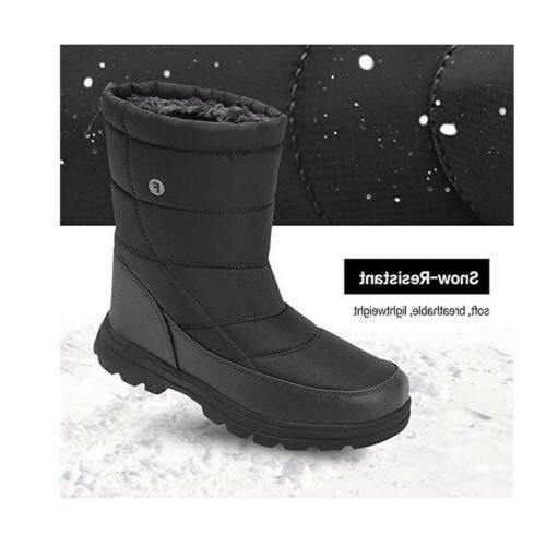 Winter Mens Womens Ankle Snow Boots Unisex Velvet Lined Warm