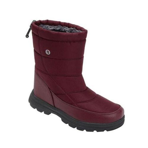 Men Womens Waterproof Snow Boot Outdoor Non-slip Drawstring