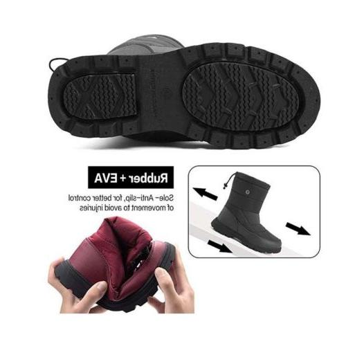 Mens Women Snow Boots Fur Hiking