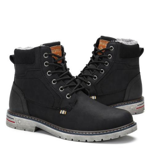 Men Boots Anti-skid Warm Lace Up F56