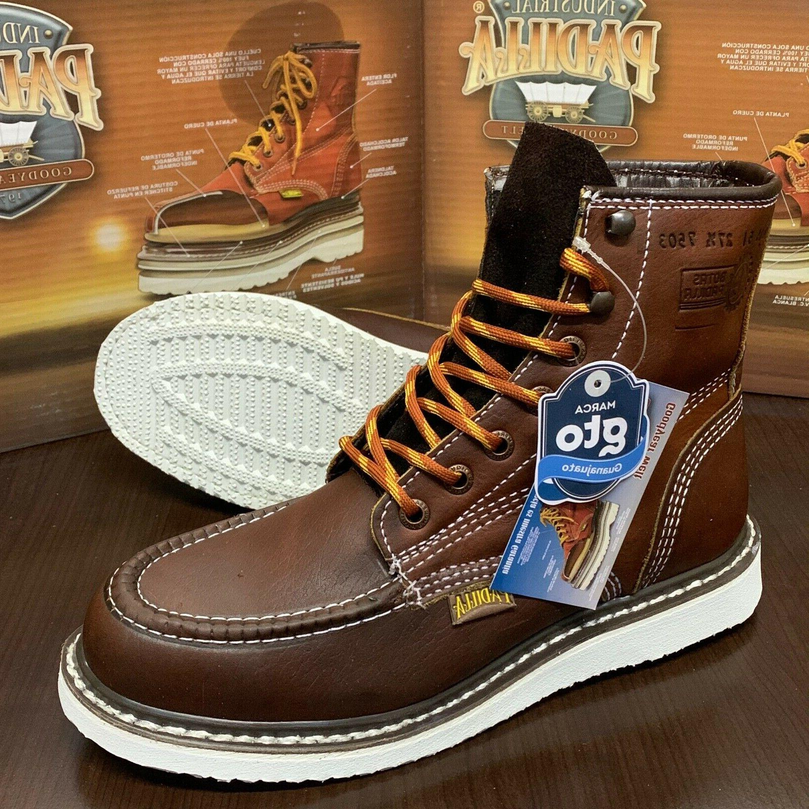 """Men's 6"""" Soft Toe Safety Resistant Leather Boots"""