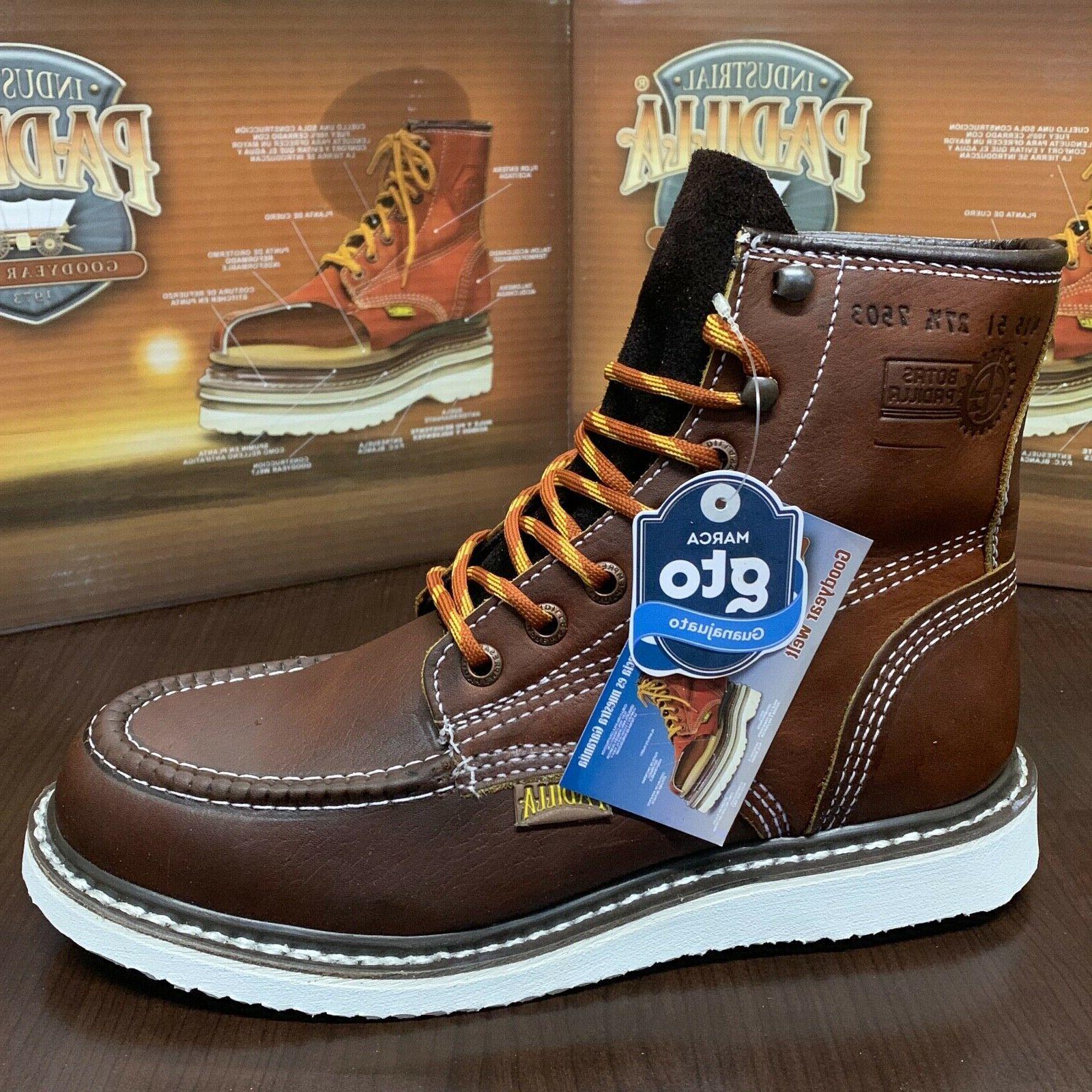Men's Moc Toe Safety Resistant Work Boots