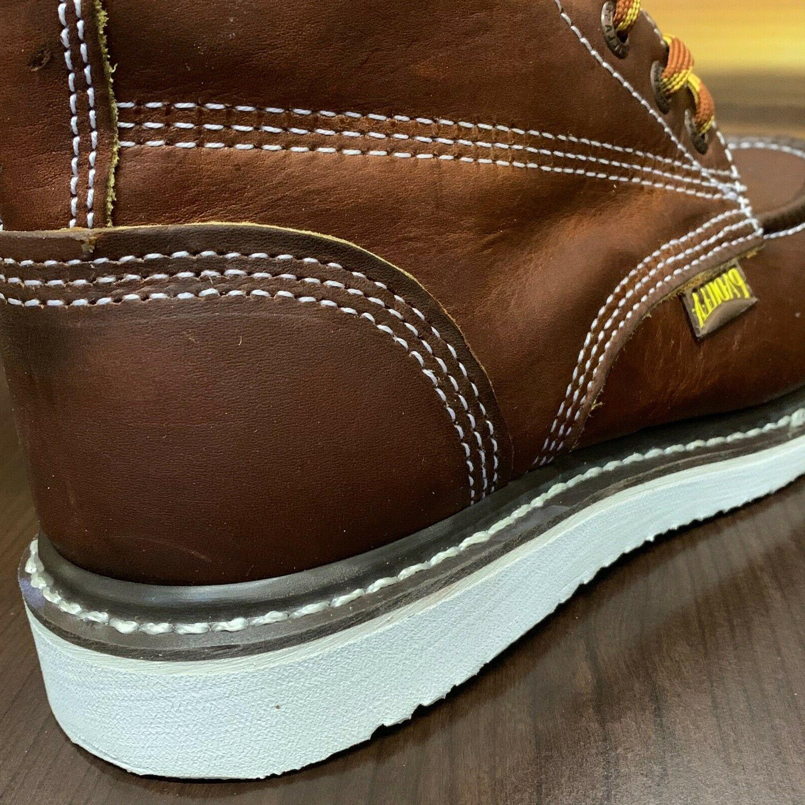 """Men's 6"""" Moc Toe Oil Resistant Work Boots"""