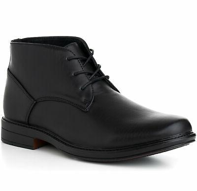 mens ankle boots dressy casual leather lined