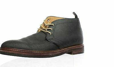 BRUNO MARC NEW YORK Mens Black Ankle Boots Size 9.5