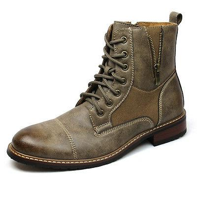 Mens Brown Boot Ferro Aldo High Top Cap Toe Suede Leather La