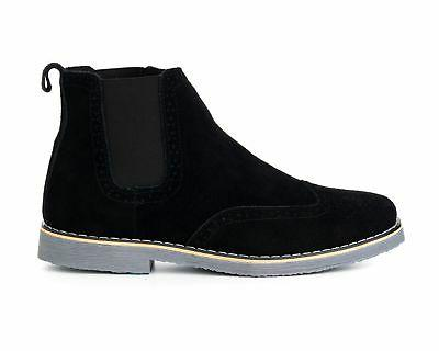 Alpine Swiss Boots Genuine Ankle Boots Wingtip Shoes