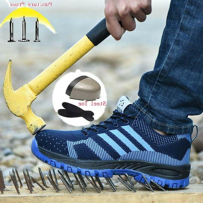 mens industry construction steel toe safety shoes