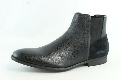 mens larry black ankle boots size 10