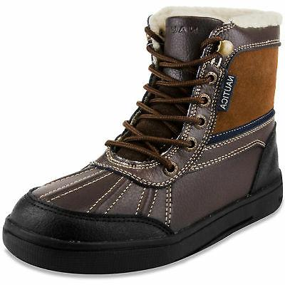 Nautica Mens Lockview Lace-Up Boots - Chocolate