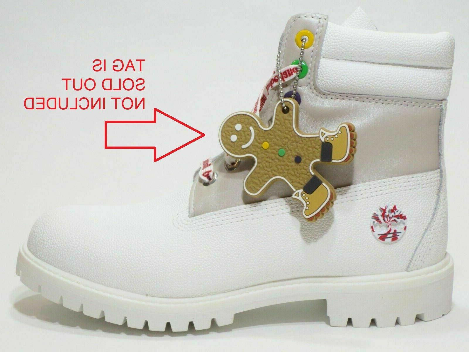 mens premium 6 white leather boots limited
