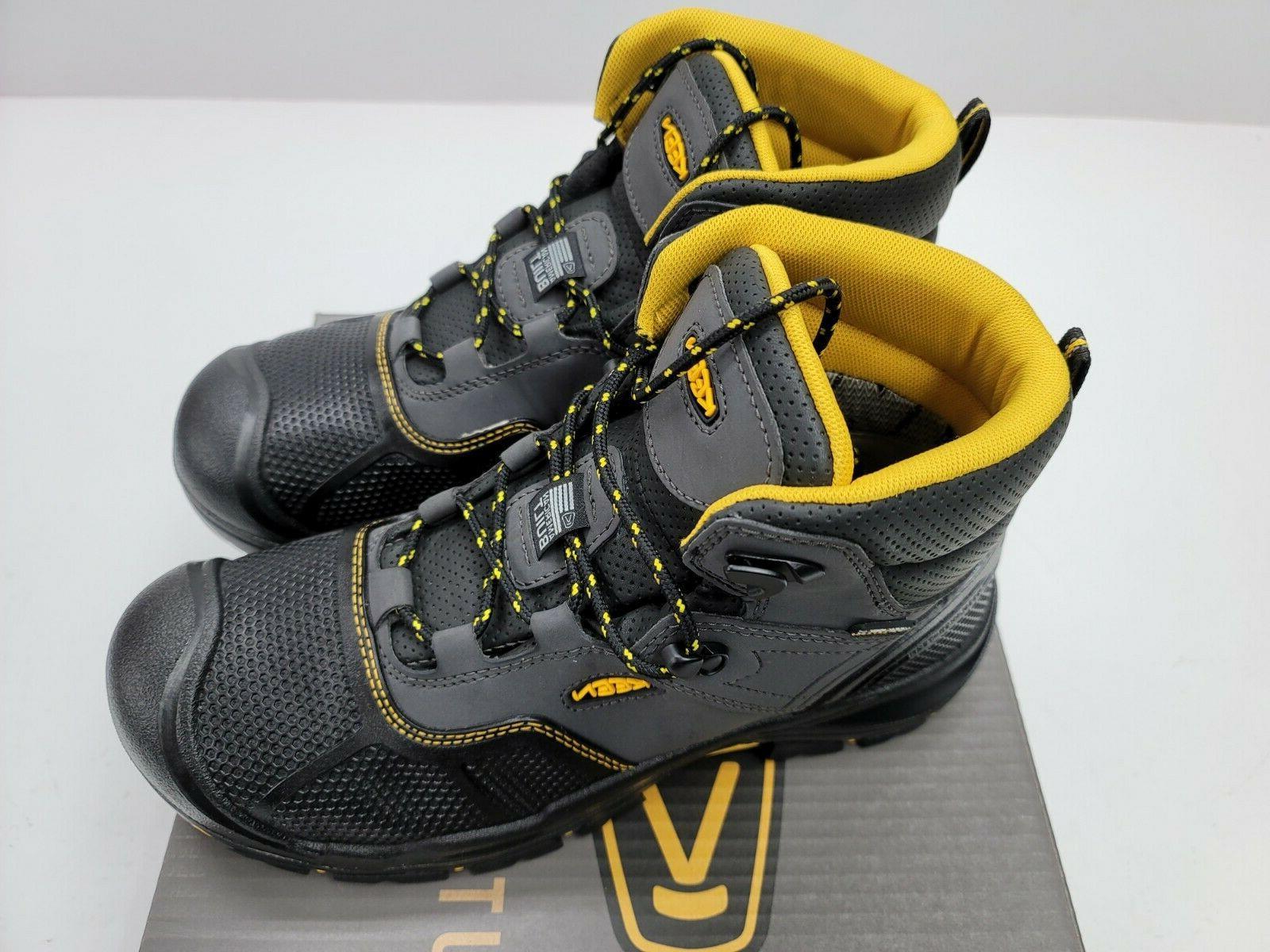 Keen Mens Steel Boots Black Logandale 1017828 Built