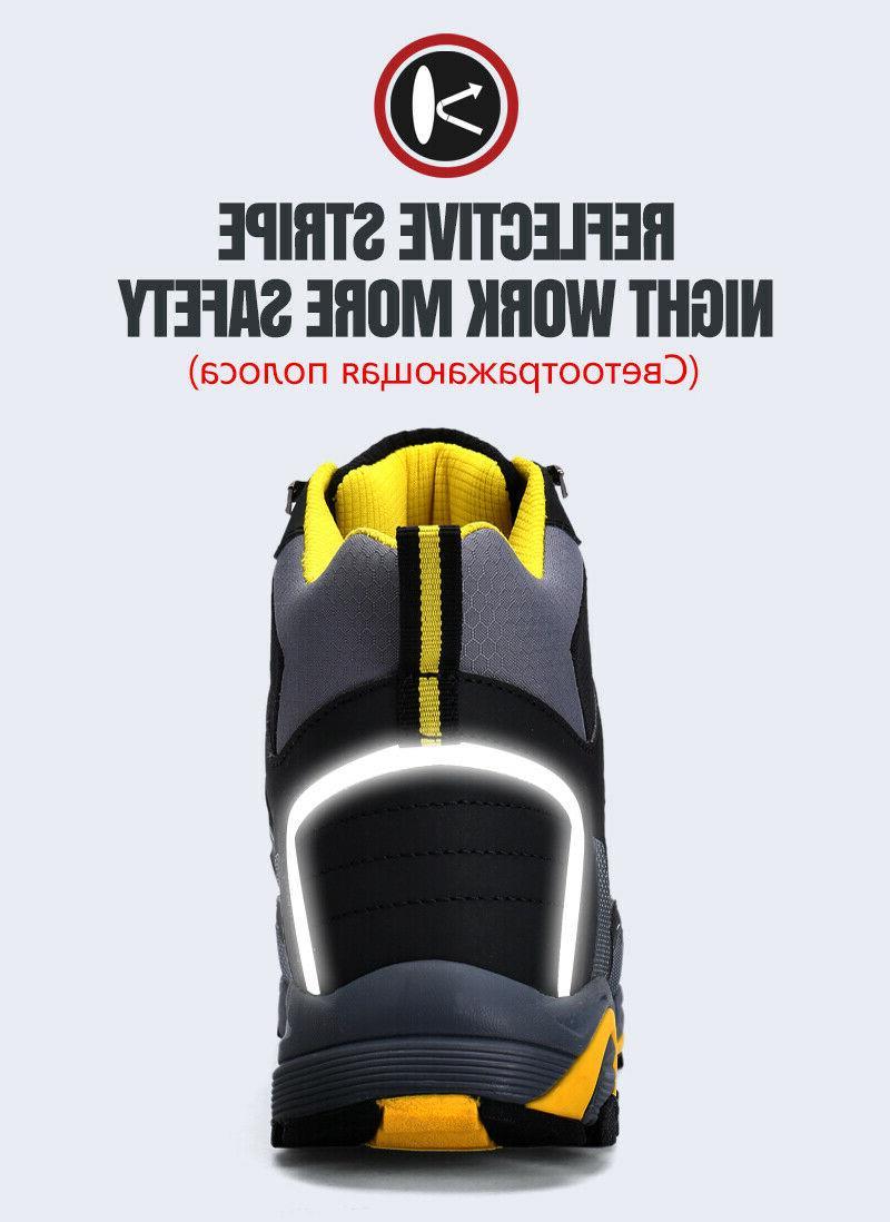 LARNMERN Boots,Mens Work Safety Outdoor Footwear