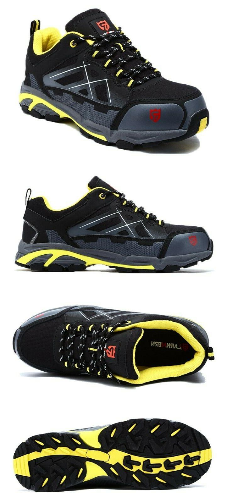 LARNMERN Steel Toe Boots,Mens Work Safety Outdoor Protection Footwear