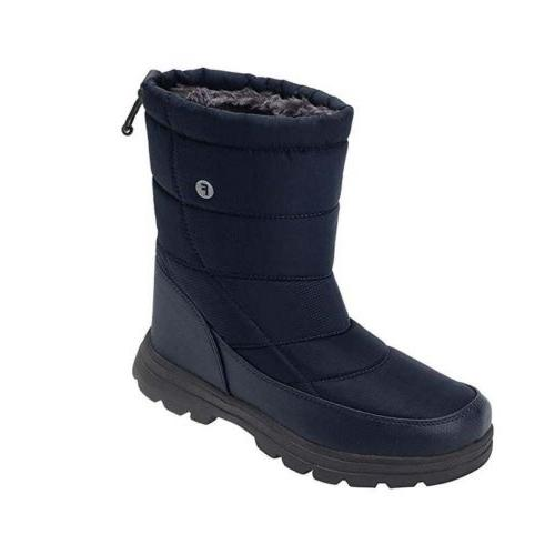 mens women mid calf snow boots unisex
