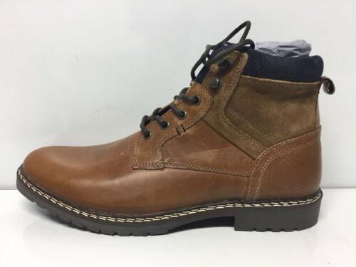mens wooster cognac leather ankle boots size