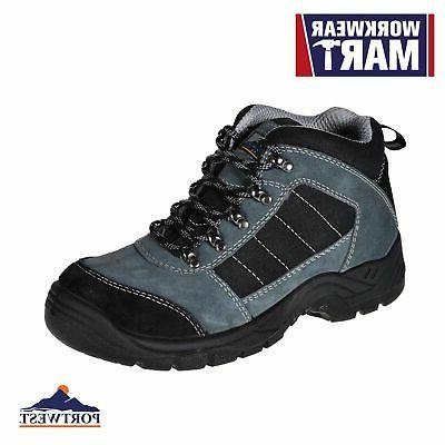 mens work boots safety trekker shoes steel