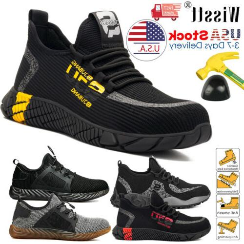 mens work safety shoes steel toe boots