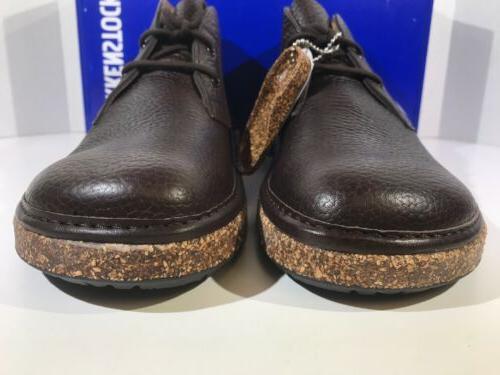 Birkenstock Milton Men's 10 Espresso Leather Chukka Boots