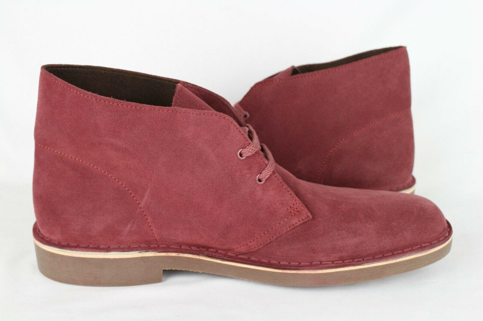 New Clarks 2 12m Wine Suede