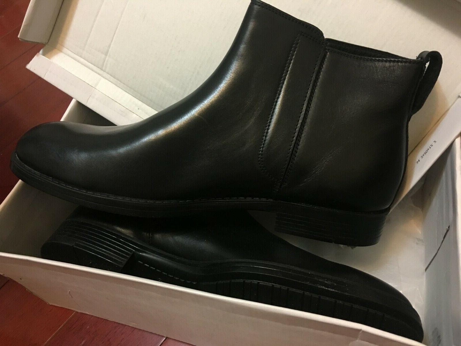 new men s chealsea leather boot black