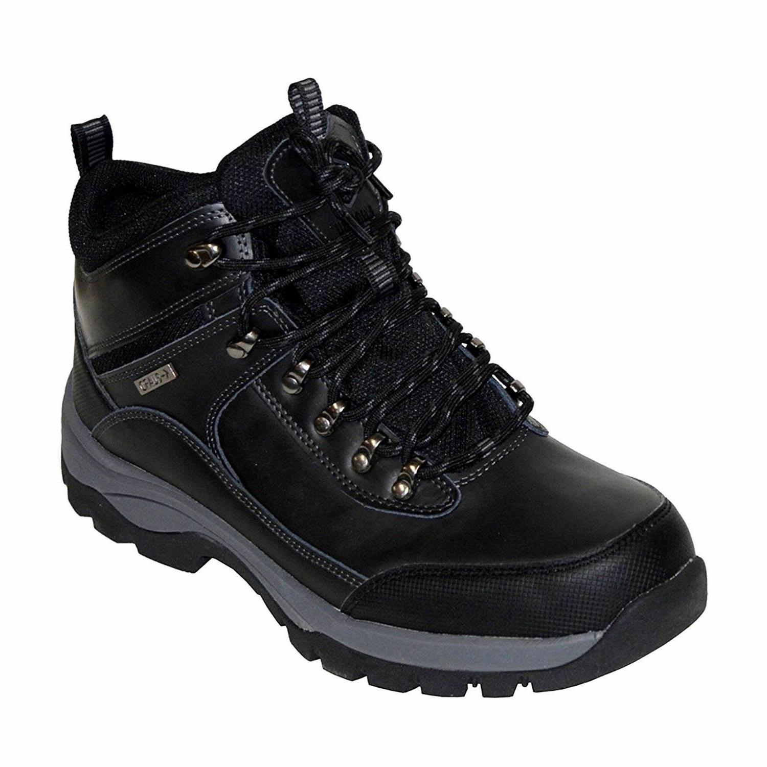 NEW - Khombu Men's Leather Hiker Boots BLACK Summit Hiking T