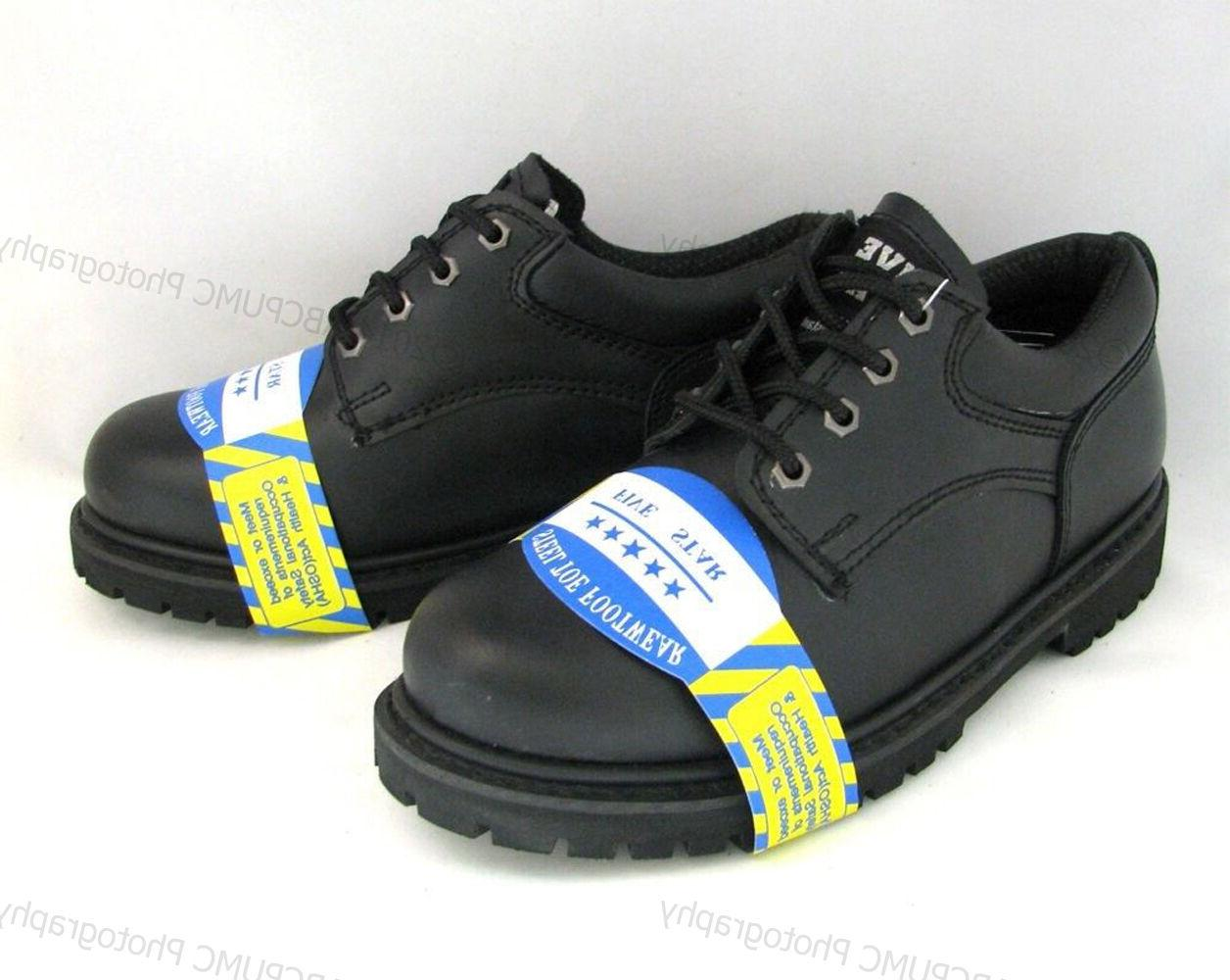 New Work Boots Black Leather Oil Shoes Sizes