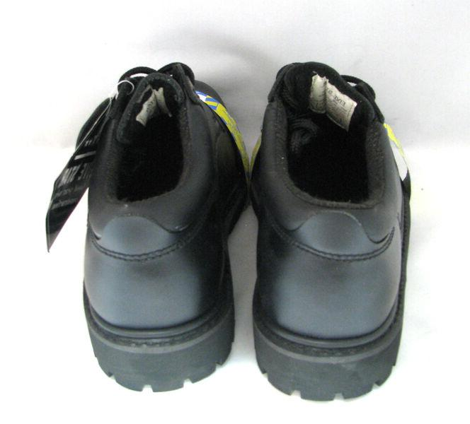 """New Work Boots 4"""" Black Leather Shoes"""