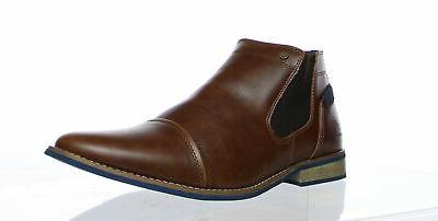 new mens brown ankle boots size 9