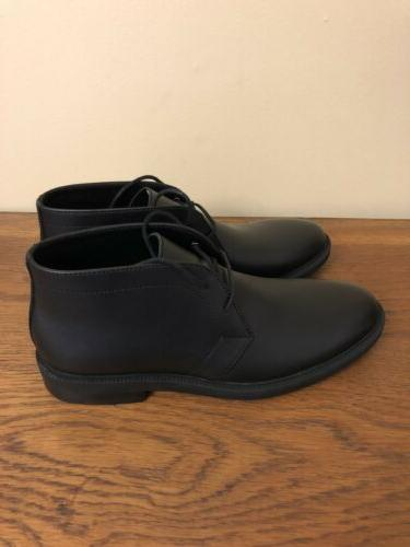 NEW Calvin Klein Cam Black Boots Leather