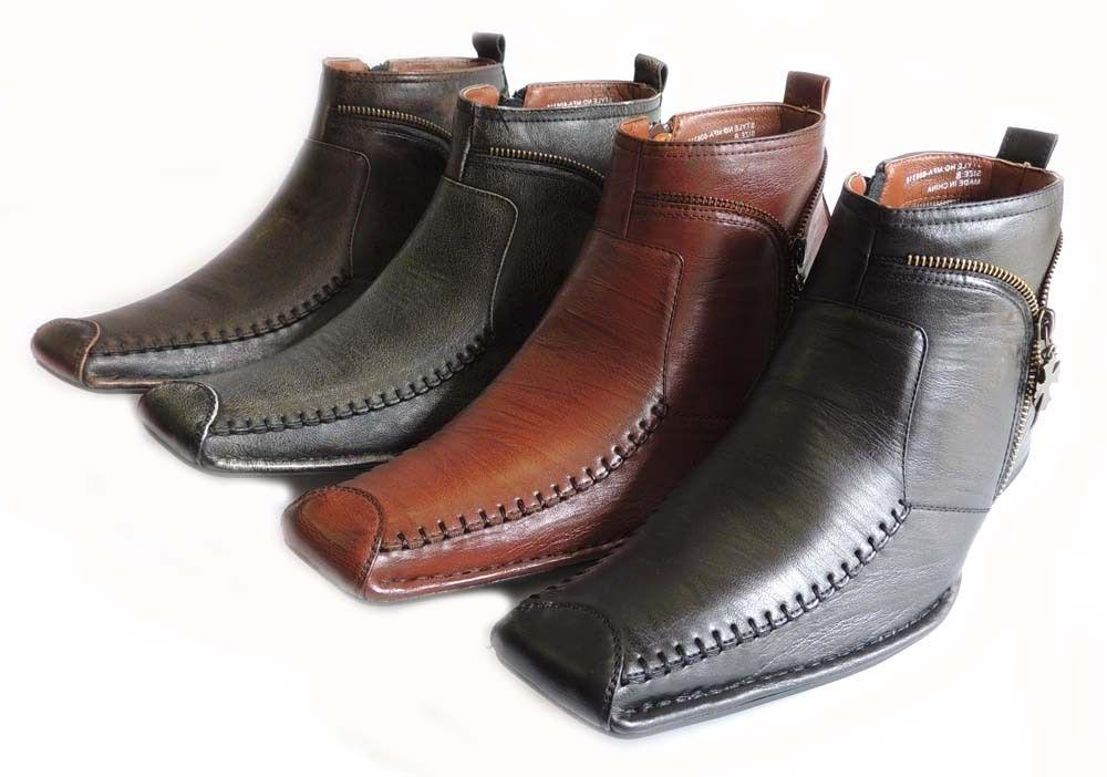 NEW *FERRO ALDO* MENS HIGH ANKLE BOOTS SLIP ON LEATHER LINED