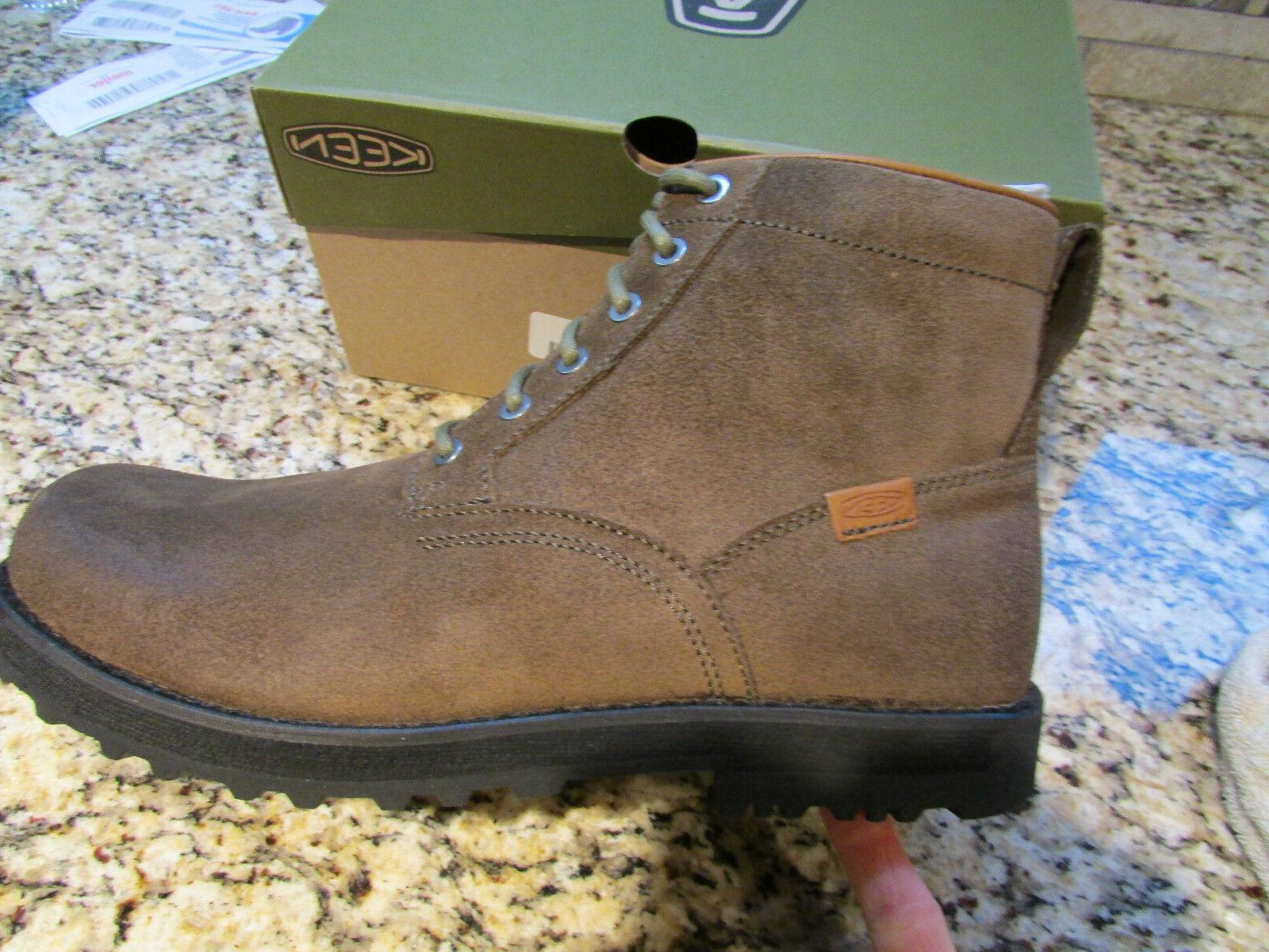 NEW KEEN THE 59 SHITAKE SUEDE BOOTS MENS 12 ANKLE BOOTS 1013