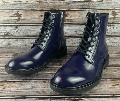 CALVIN KLEIN Keeler Side-Zip Combat Boots Navy Men's