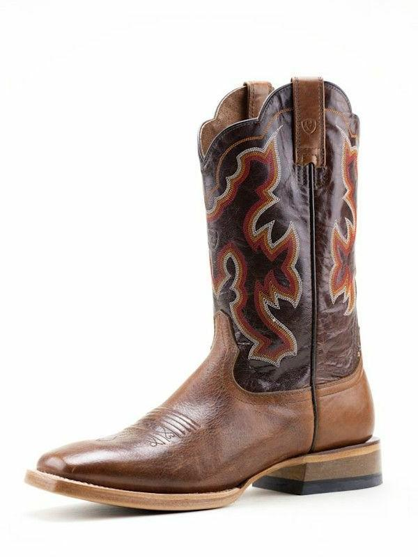 Ariat Nitro Men's Dress Brown Square Toe Western Boot