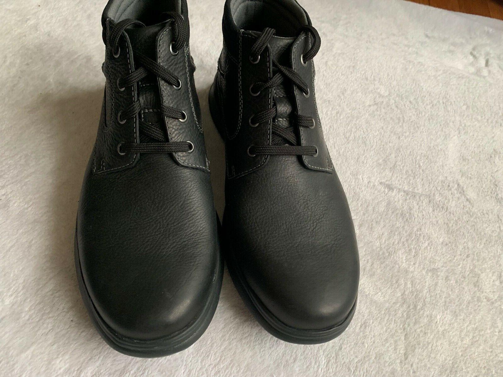 NWT CLARKS COTRELL MEN'S BLACK CASUAL LIGHTWEIGHT BOOTS: