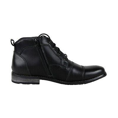Steve Madden Black Lace Up Boots Shoes 10