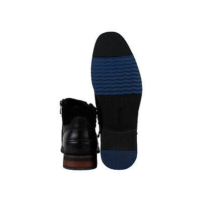 Steve P-Kingpin Black Zipper Boots