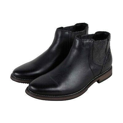 p quahog mens black leather casual dress