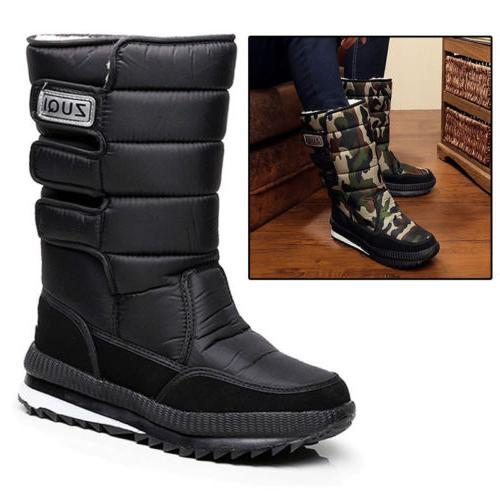 Pop Men's Winter Snow Boots Outdoor Warm Shoes Boys Waterpro