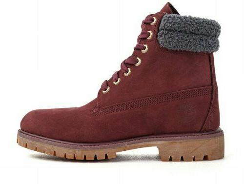 premium 6 inch waterproof burgundy boots a1zk8