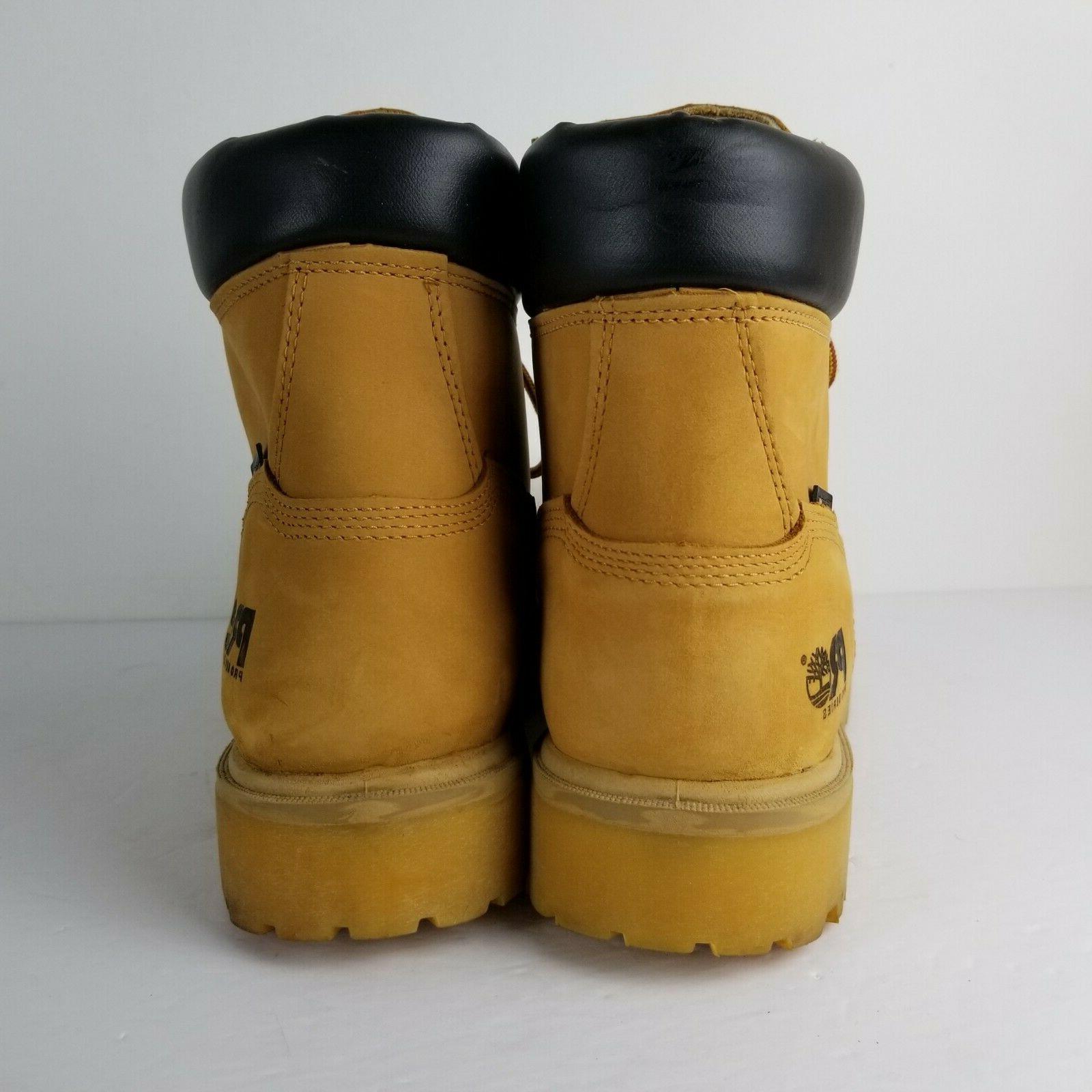 "TIMBERLAND 65030 Attach 6"" Waterproof Wheat Boots 15"