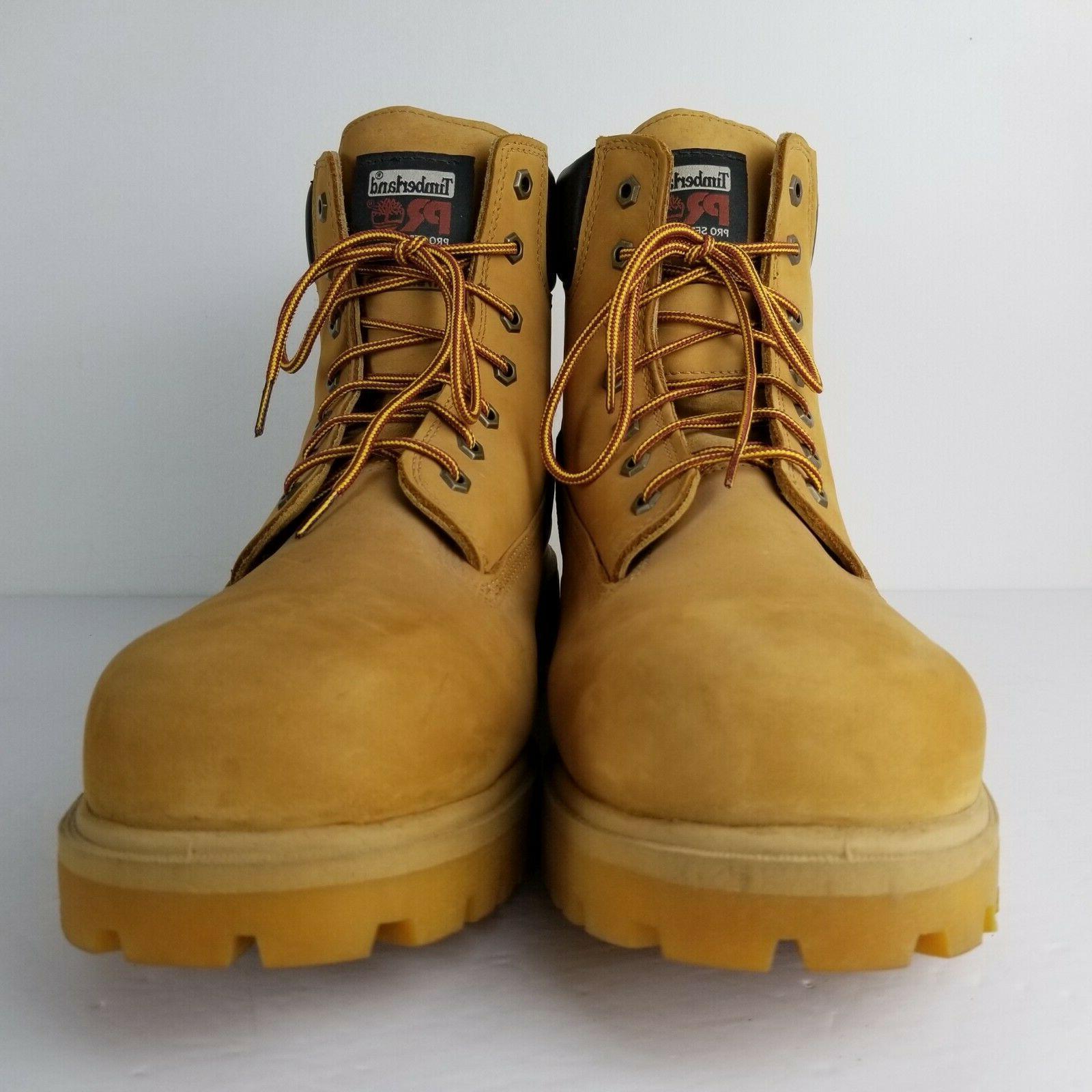 "TIMBERLAND PRO Attach 6"" Soft Waterproof Wheat Work Boots 15 M"