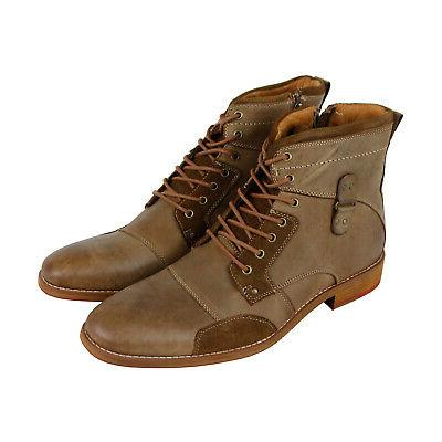 ranter mens tan brown leather lace up