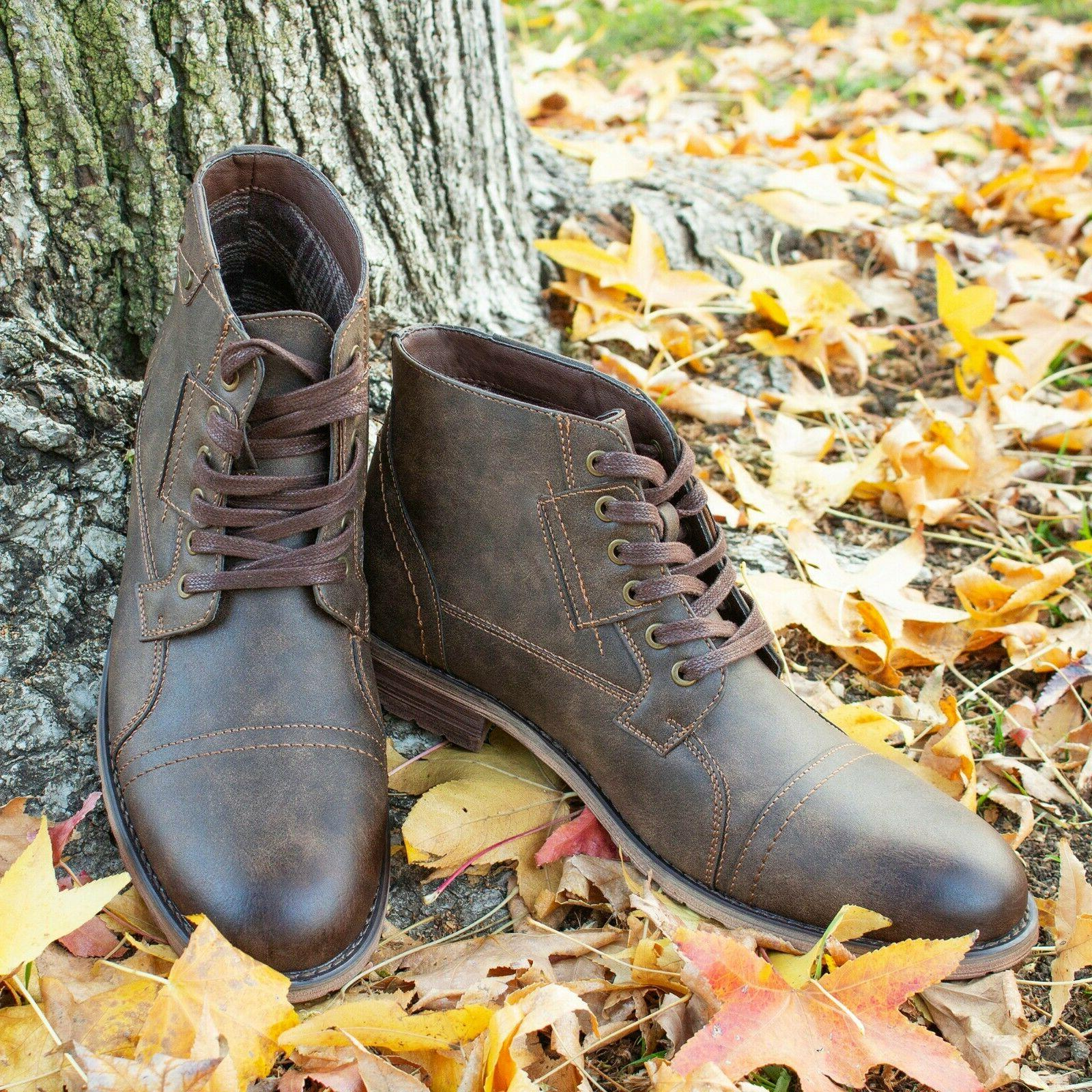 Men's Motorcycle Hiking Retro Boots