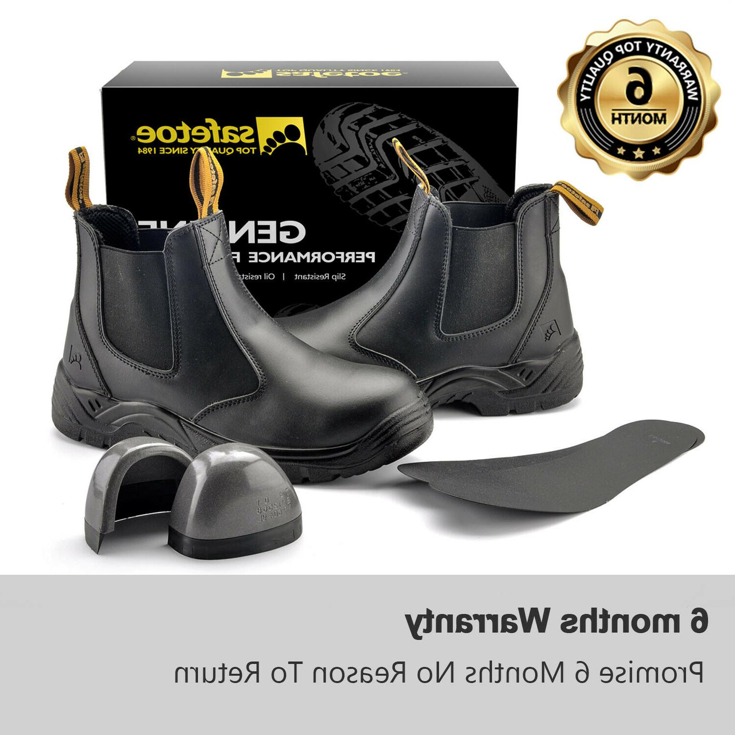 Safety Shoes Leather Water on
