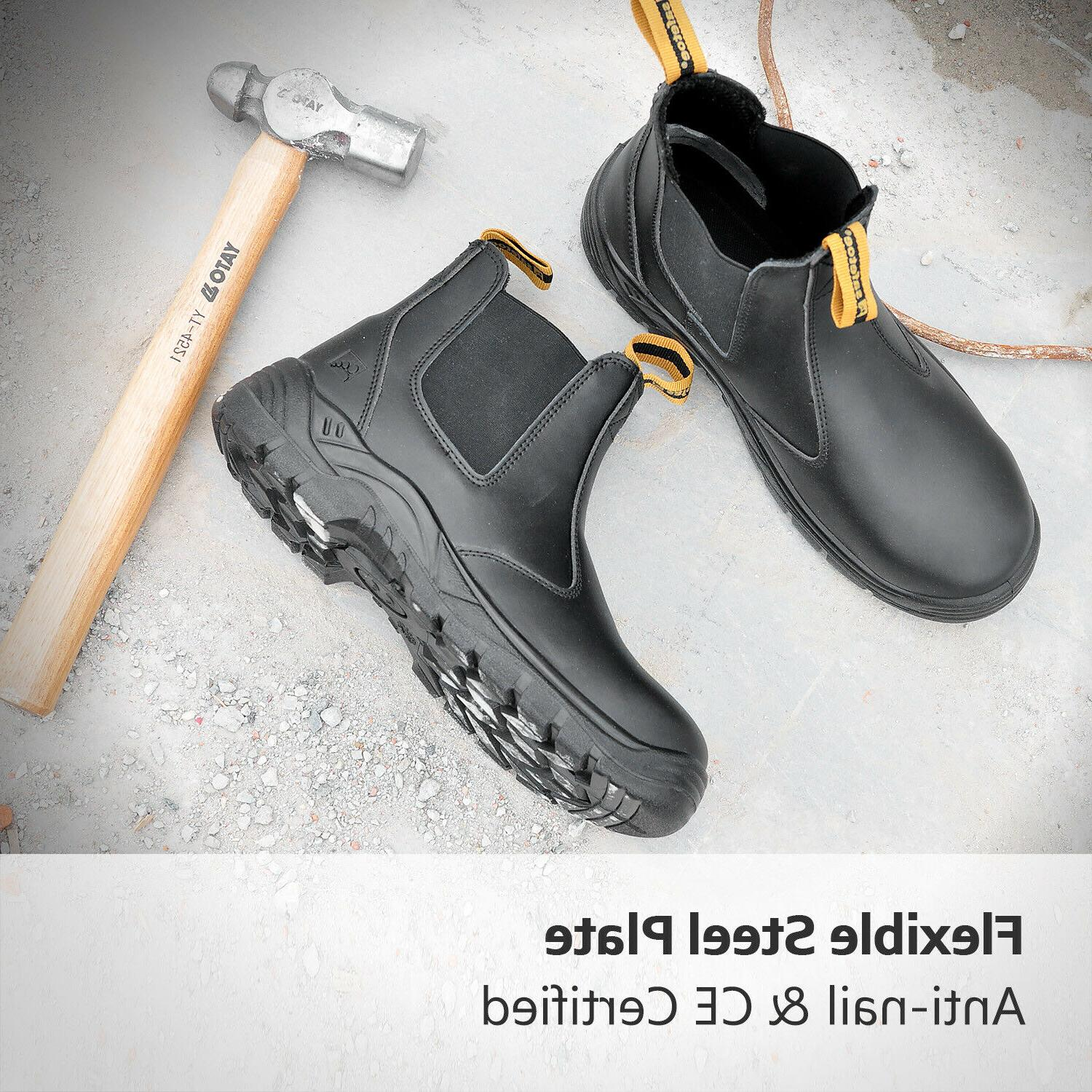 Safety Work Shoes Steel Toe Water Resistant on