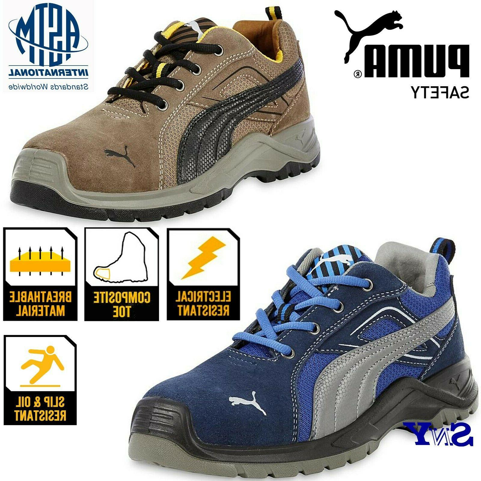 Puma Safety Men's Omni Sky Composite toe suede work shoes bo
